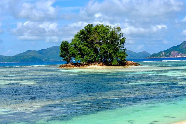 Offshore island near La Digue, Seychelles
