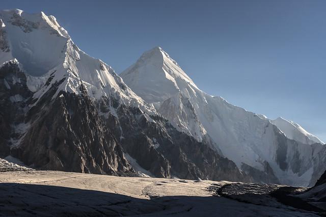 Inylchek Glacier from South Inyklchek Basecamp