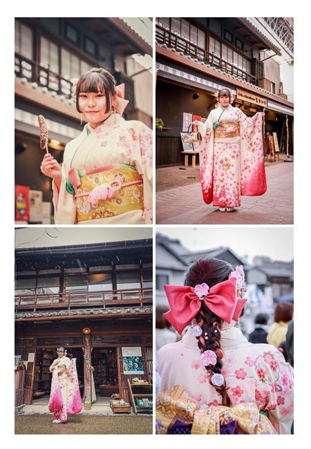 愛知県瀬戸市で成人式写真のロケーション撮影 天気は雨