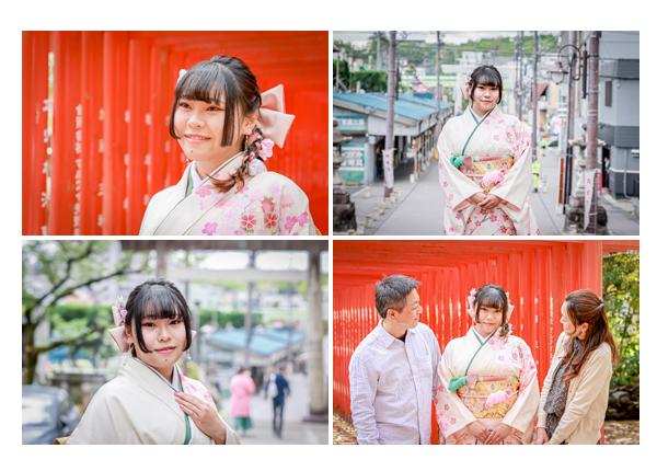 愛知県瀬戸市で成人式写真の前撮り 深川神社へお参り