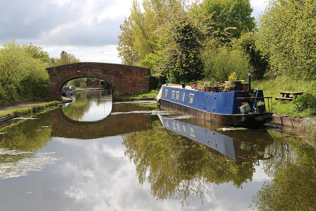 7th May 2021. Bridge 147 on the Shropshire Union Canal, Ellesmere Port, Cheshire.