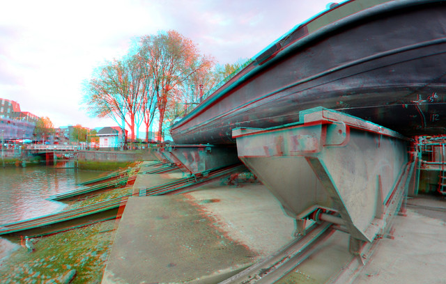 Scheepshelling Koningspoort Oude-haven Rotterdam 3D Fish-eye