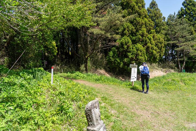 岩戸山ハイキングコースの分岐点