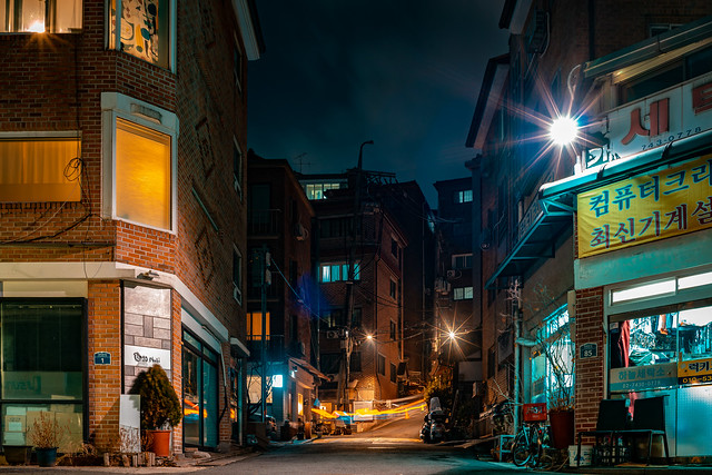 Bukchon Hanok at night