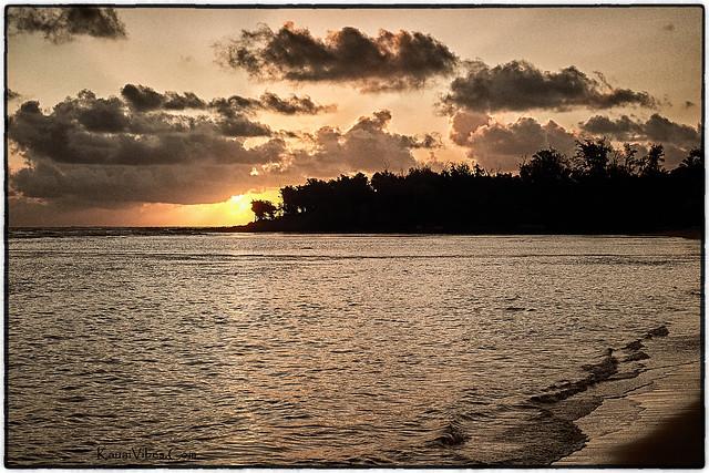 Anahola, Kauai at Sunrise.