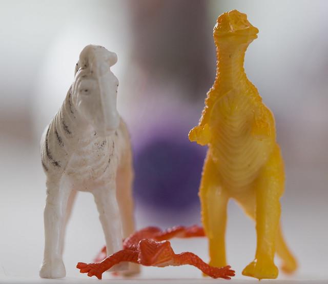 A zebra, a lizard, and a dinosaur walk into a bar ...