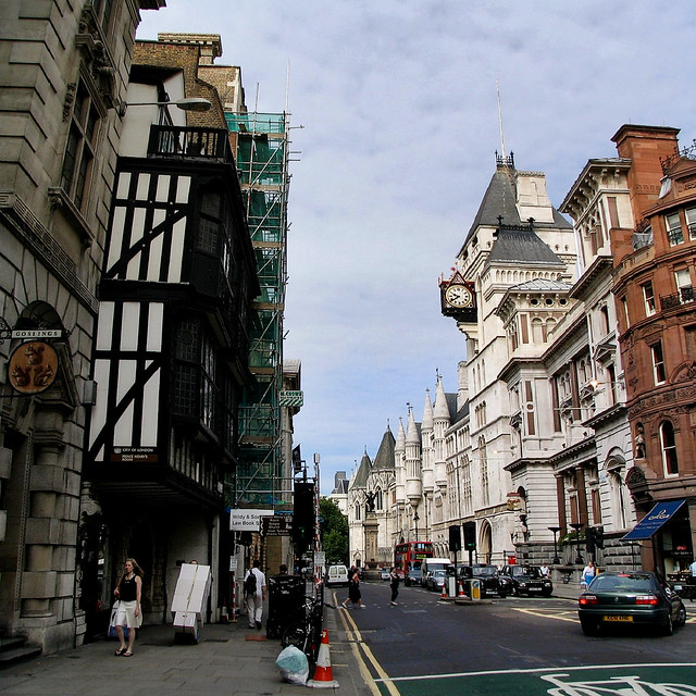 On Fleet Street ...