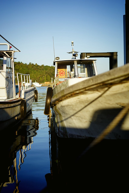 Fishing boat in afternoon sunlight