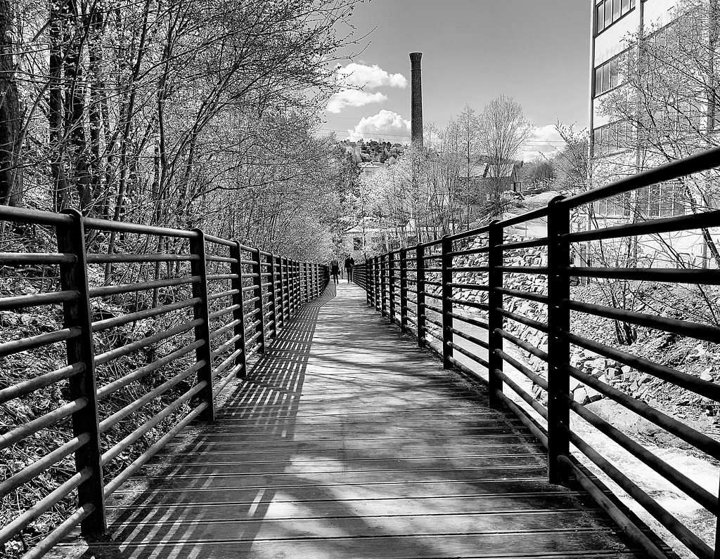 railings for hikers on the Alna trail