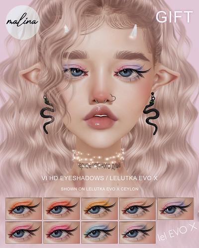 GIFT ♥ Malina - Vi HD eyeshadows / Lelutka EVO X