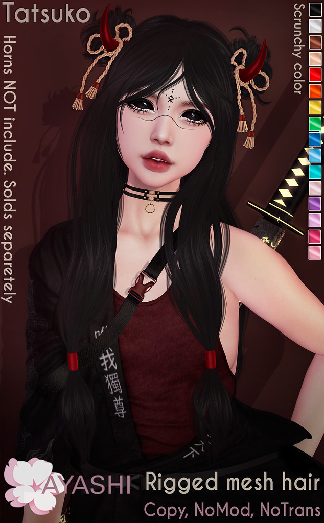 [^.^Ayashi^.^] Tatsuko hair & horns special for Black Fair