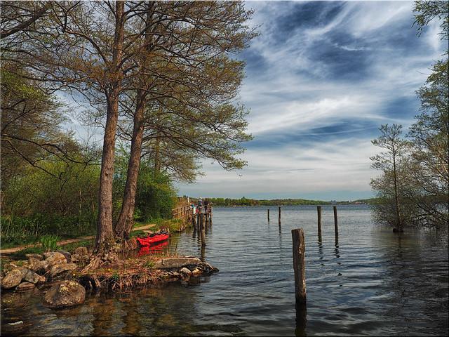 Spring  at the  lake Dieksee