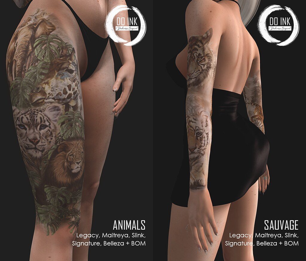 DO INK TATTOO ANIMALS AND SAUVAGE FOR JAIL EVENT