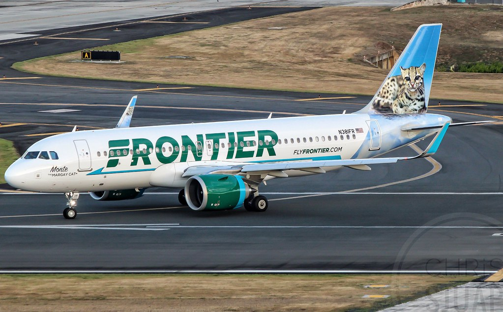 """Frontier Airlines""""Monte The Margay Cat""""/Airbus A320-251'NEO'/N381FR"""