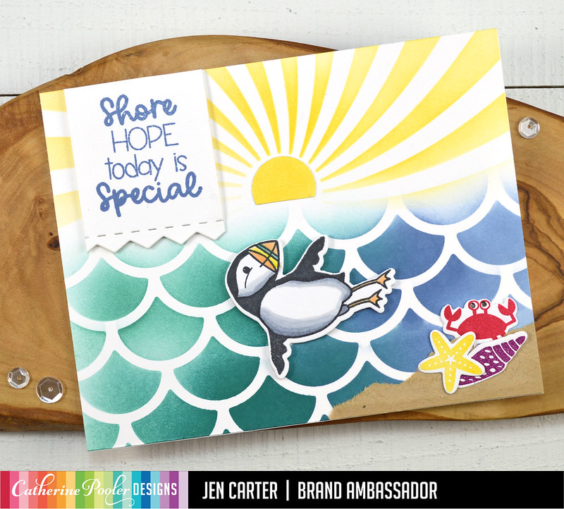 Jen Carter Waves of Happiness Puffin Cleo Special Day Swimming