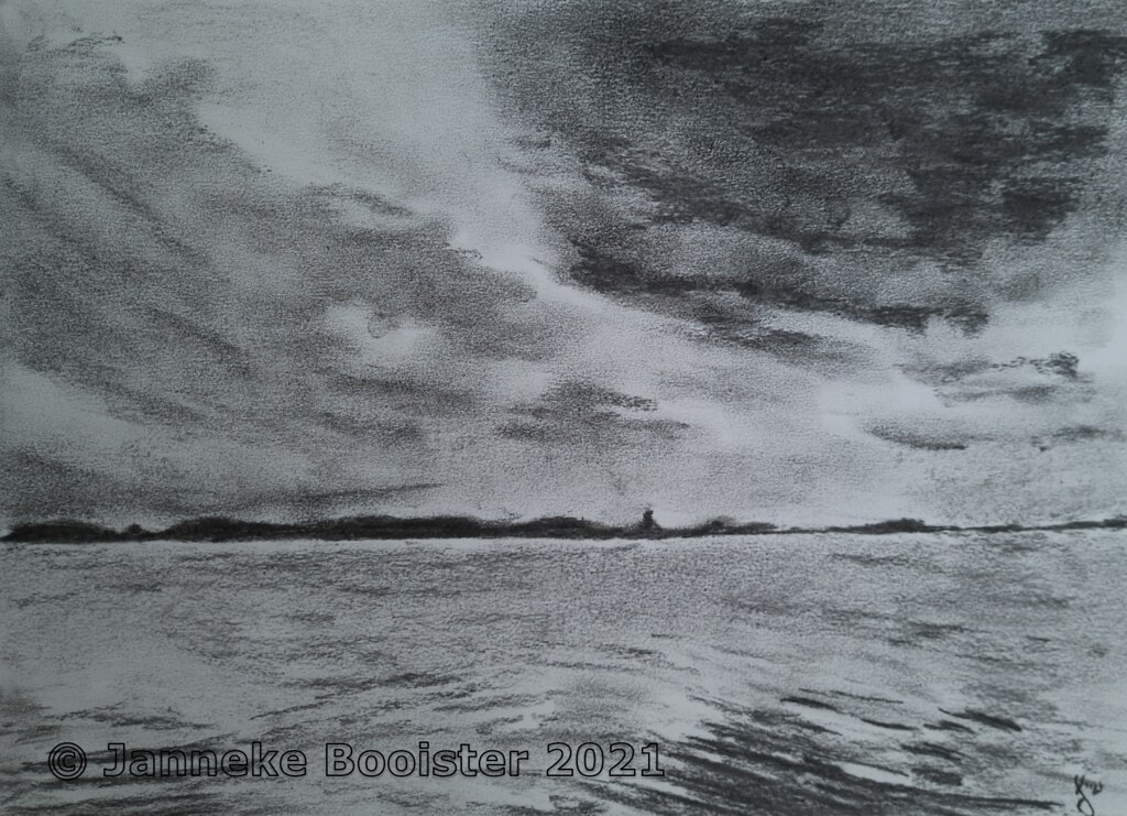 Donkere wolken boven het Veerse Meer / Dark clouds over the 'Veerse Meer'