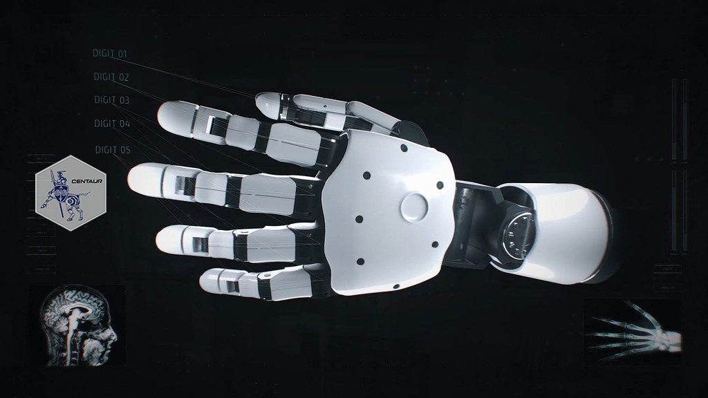 3d animated robot hand