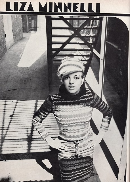Liza Minelli shot by Duane Michals for Mademoiselle 1965