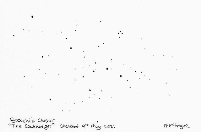 The Coat Hanger (Brocchi's Cluster) Pencil Sketch 09/05/21