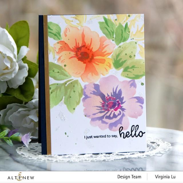 Altenew-Greenwood Flowers Stencil Set-Bouquet of Love Stamp Set