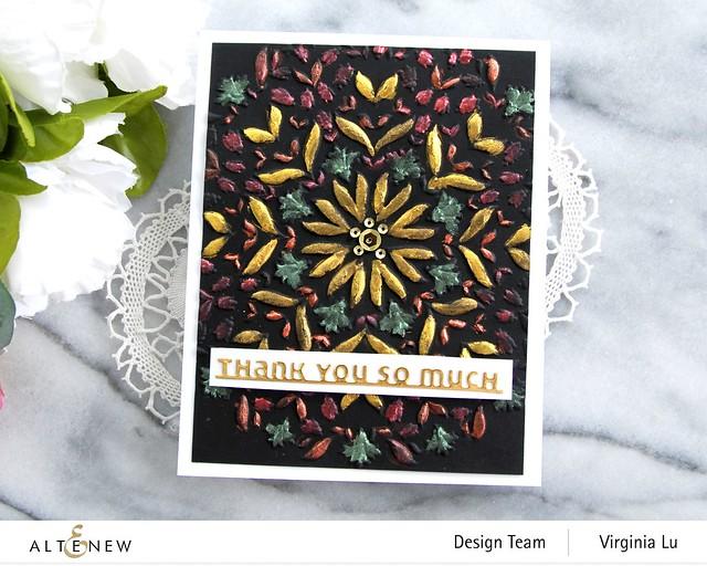 Altenew-Charming Mandala 3D Embossing Folder-Slim Sentiment Die Set-Metallic Watercolor 14 Pan Set-002