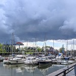 Stormy clouds over Preston Marina