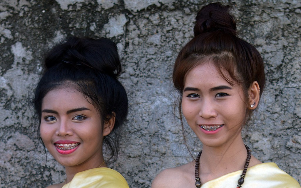 young ladies with braces