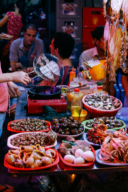 Sea food, Ho Chi Minh City (Vietnam)