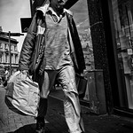 People you meet when out for a walk (48), The Shabby Shopper.
