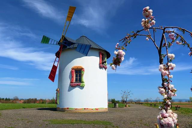 Windmill in the village Černilov.