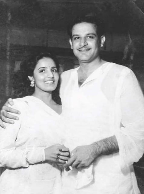 Actor Shayam and his wife Taji (Mumtaz Qureshi), اداکارہ شیام اور اہلیہ تاجی