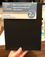 Black canvas! Iu2019m excited. I love bright colors against black.