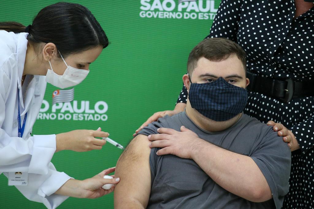 Abertura da campanha de vacinação contra Covid-19 para pessoas com Síndrome de Down