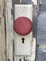 Rustic Red Door Knob
