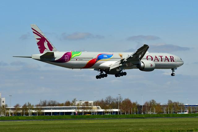 A7-BAX B777-3DZER cn 41780 Qatar Airways (FIFA 2022) 210426 Schiphol 1004