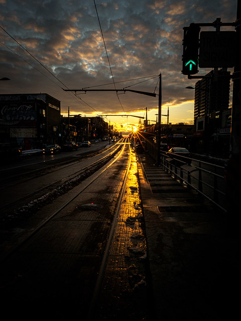 Sunset on St Clair West