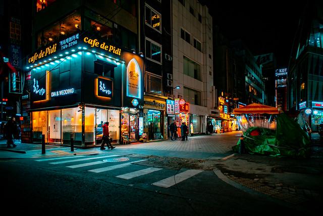 A corner of Seoul at night