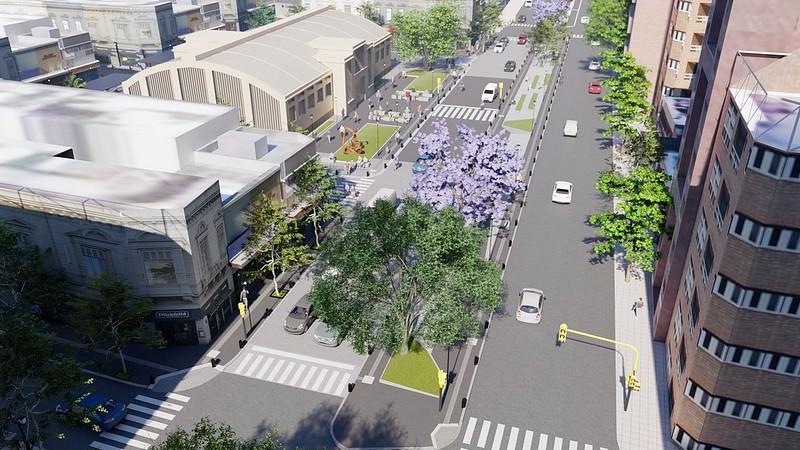La Municipalidad subastó la intervención exterior del Mercado Sud y el bulevar Illia (10)
