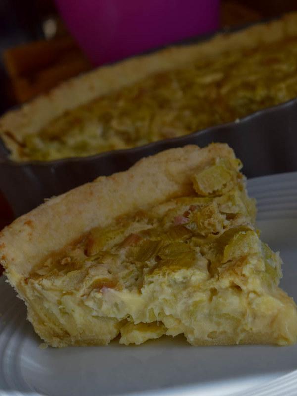 Tarte à la rhubarbe et crème anglaise (Rhubarb & Custard pie) 2