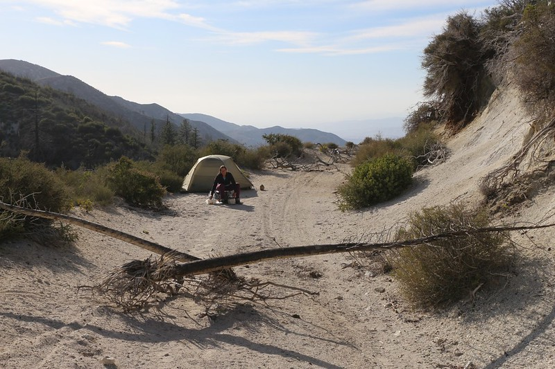 We camped directly on Moody Canyon Road, 4N33, which was closed, but I put up some primitive road blocks just in case
