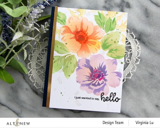 Altenew-Greenwood Flowers Stencil Set-Bouquet of Love Stamp Set-003