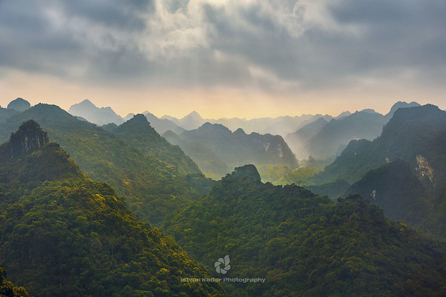 Karst Mountains On Cat Ba Island, Halong Bay, Vietnam