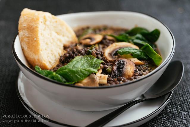 Creamy Mushroom and Black Lentil Stew