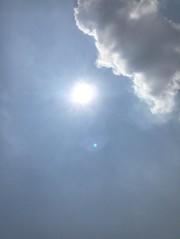 Nubes junto al Sol