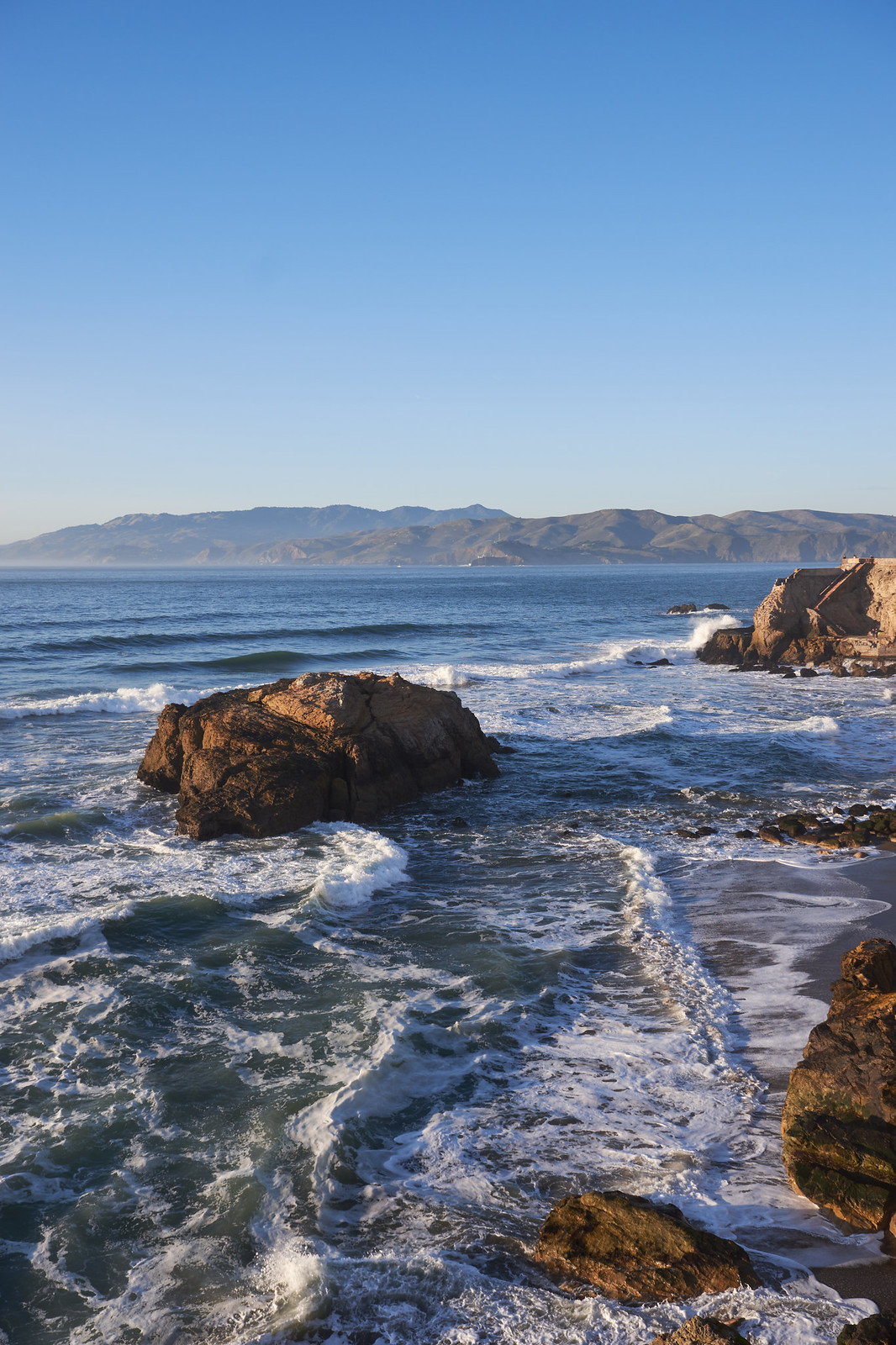 The rough coast at Land's end in San Francisco.