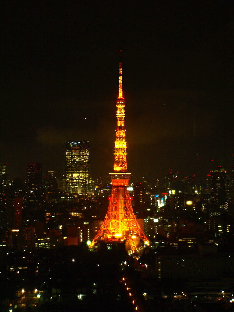 Tokyo tower at night (Explored)