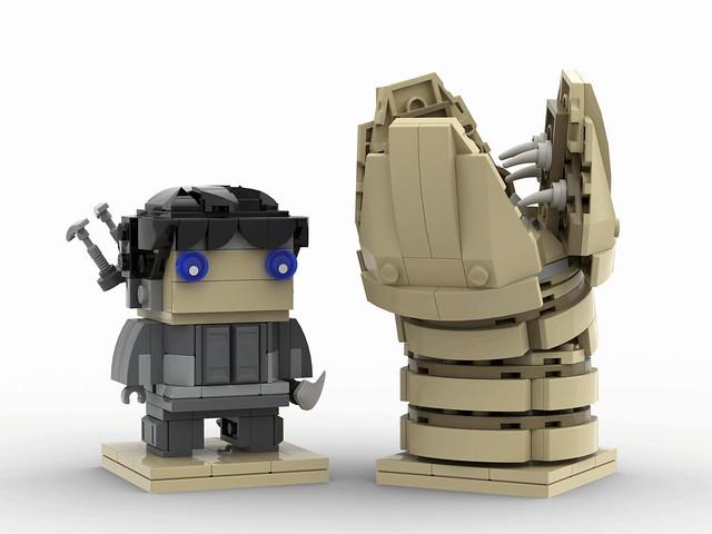 Muad'dib and Shai-Hulud LEGO Brickheadz