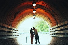 From the archives. Happy Monday! . . . #engagementphotos #engaged #engagementring #nashville #nashvilletn #nashvilleengagement #nashvilleengagementphotographer #kiss #tunnel #love #thatsdarling #canon #vsco #mextures