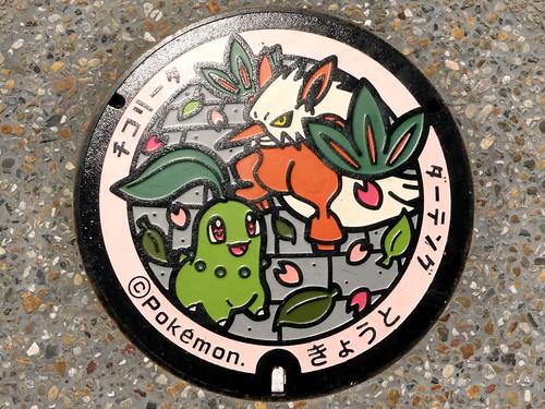 Kyoto city, manhole cover (京都府京都市のマンホール3)