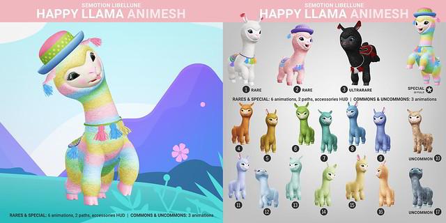 SEmotion Libellune Happy Llama Animesh